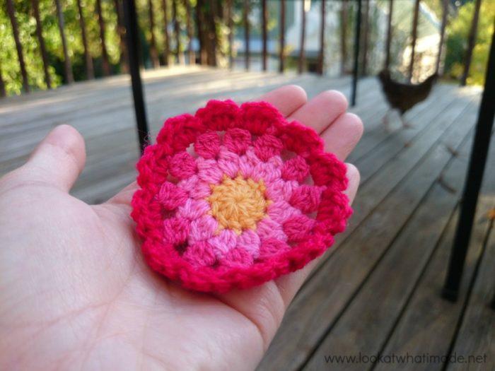 Autumn Clusters Crochet Square Photo Tutorial