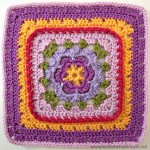 Veronica's Rose Crochet Square Photo Tutorial Lookatwhatimade