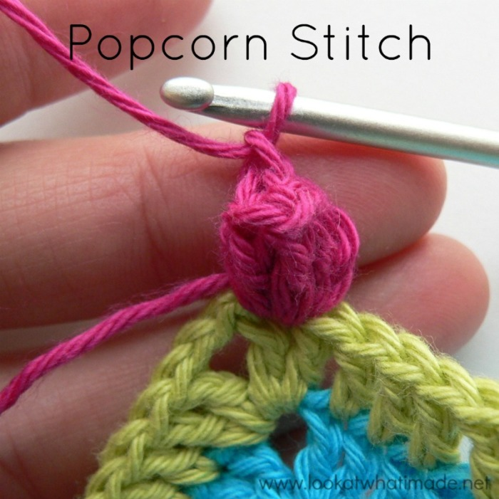 Popcorn Stitch Photo Tutorial