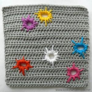 Crochet Square Scrap Yarn