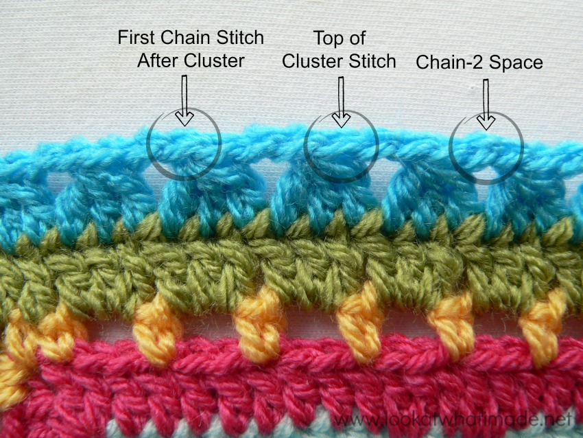 My favourite way of using cluster stitches is by placing them over ...