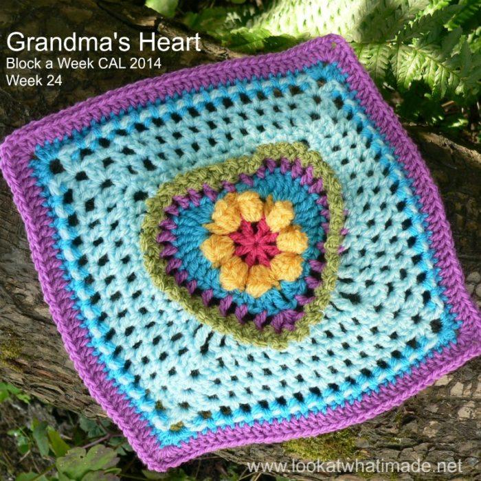 Grandma's Heart Square Block a Week CAL 2014