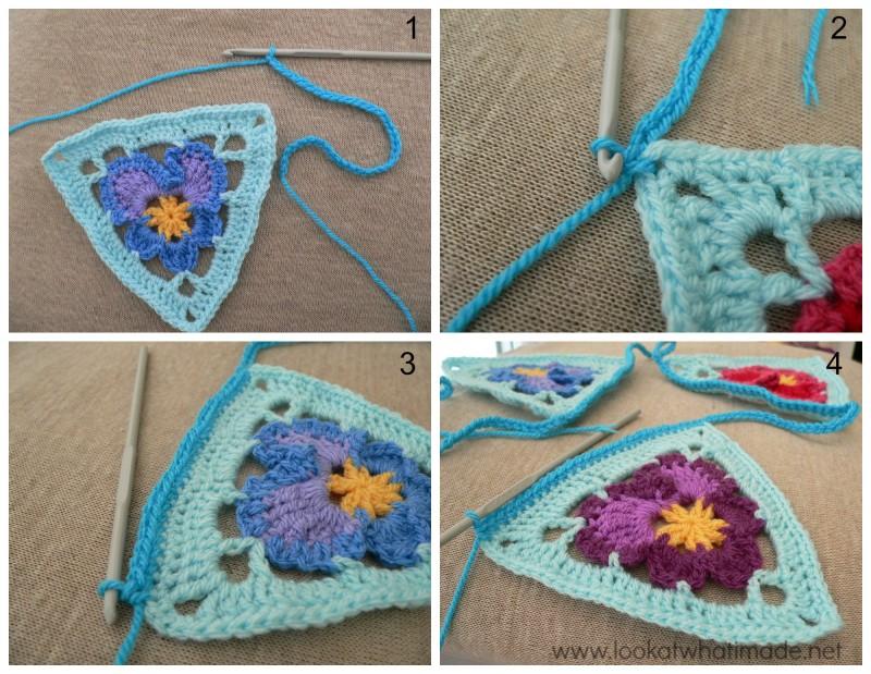 Crochet Pansy Bunting