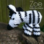 Zoe the Crochet Zebra Pattern Little Zoo
