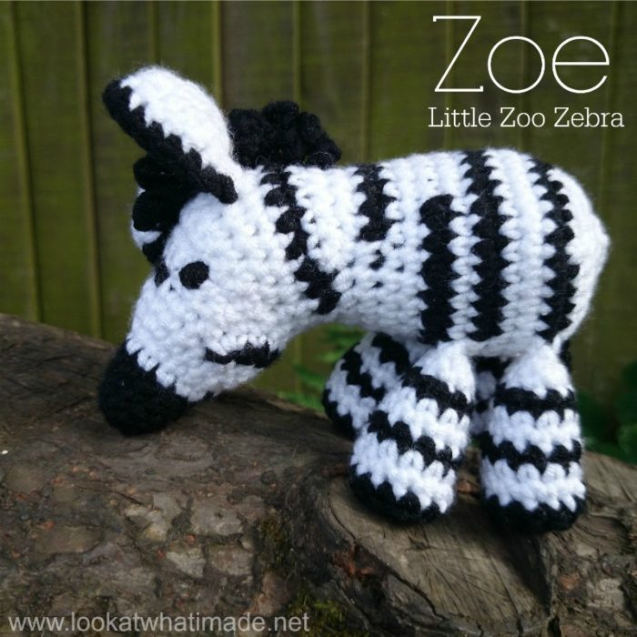 Free Crochet Zebra Patterns : Zoe the Zebra is the fourth animal in the Little Zoo series. She is ...
