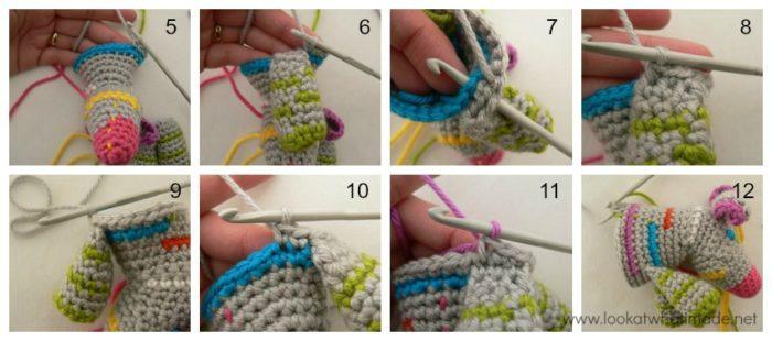 Striped Crochet Animal Body Amigurumi