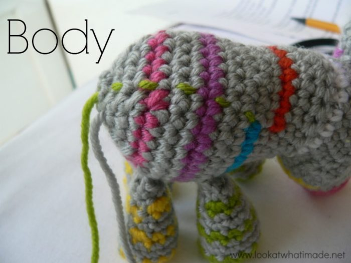 Striped Crochet Animal Body Amigurumi