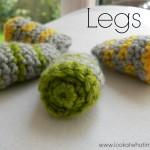 Crochet Animal Legs {Striped}