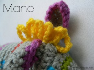 Crochet Zebra Mane