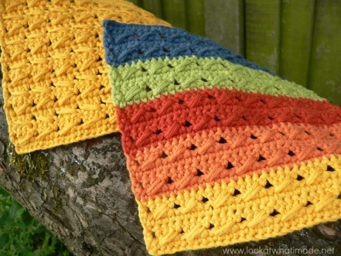 Crochet Stitches Cable : Cable Stitch Dishcloths