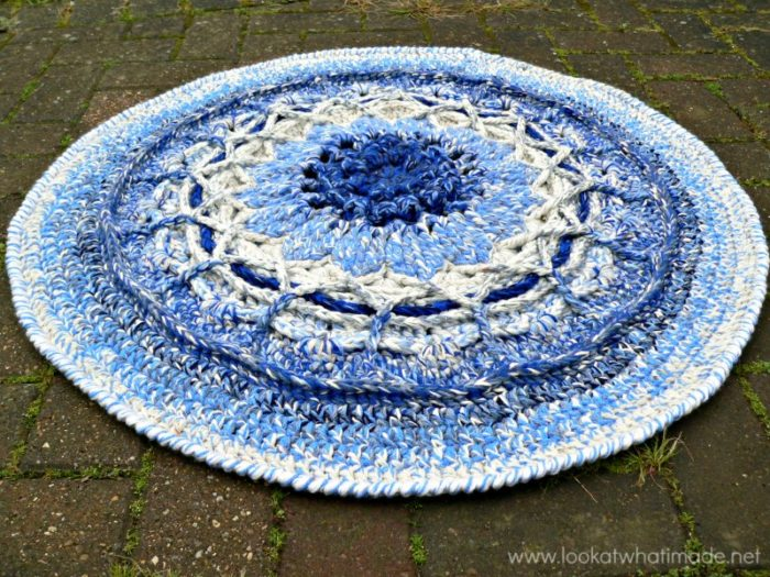 Crochet Mandala Rug Rugs Ideas