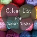 Colour List for Sophie's Garden