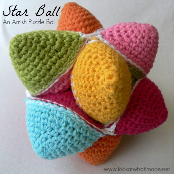 Star Ball A Crochet Amish Puzzle Ball Pattern Look At What I Made