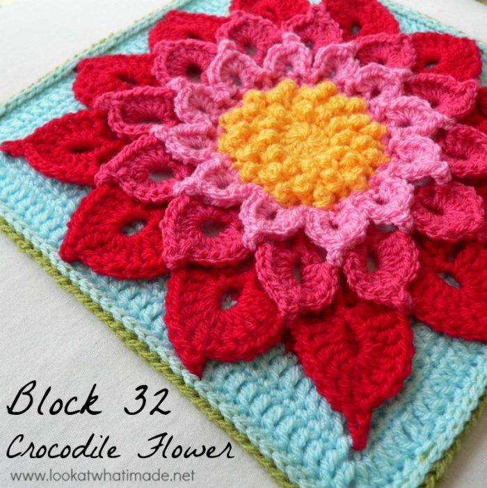 Block 32 The Crocodile Flower Photo Tutorial Look At What I Made