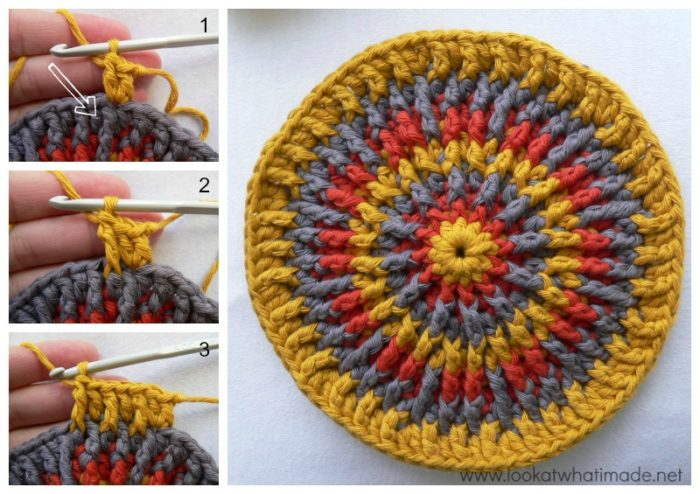 Front Post Frenzy Crochet Potholder Look At What I Made