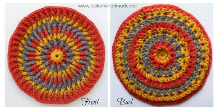 Round Crochet Potholder Trivet Mandala