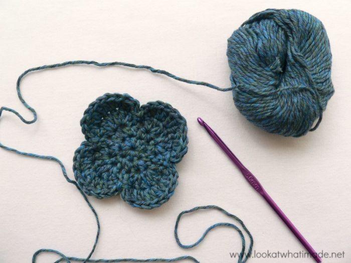 Crochet Face Scrubbie Flower
