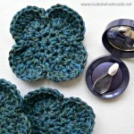 Crochet Flower Face Scrubbie