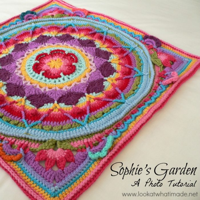 Sophie's Garden Photo Tutorial Inspiration Free Crochet Mandala Pattern