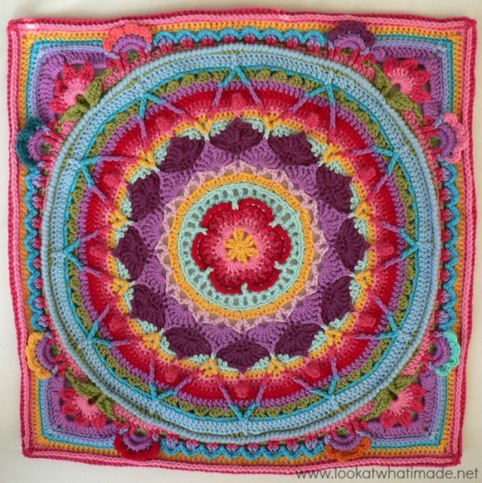 Sophie's Garden Large Crochet Square