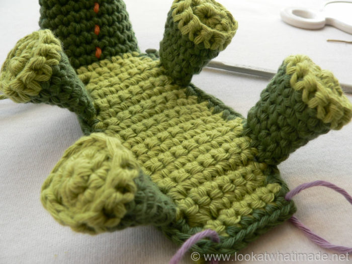 Knit Crocodile Stitch In The Round : crochet crocodile