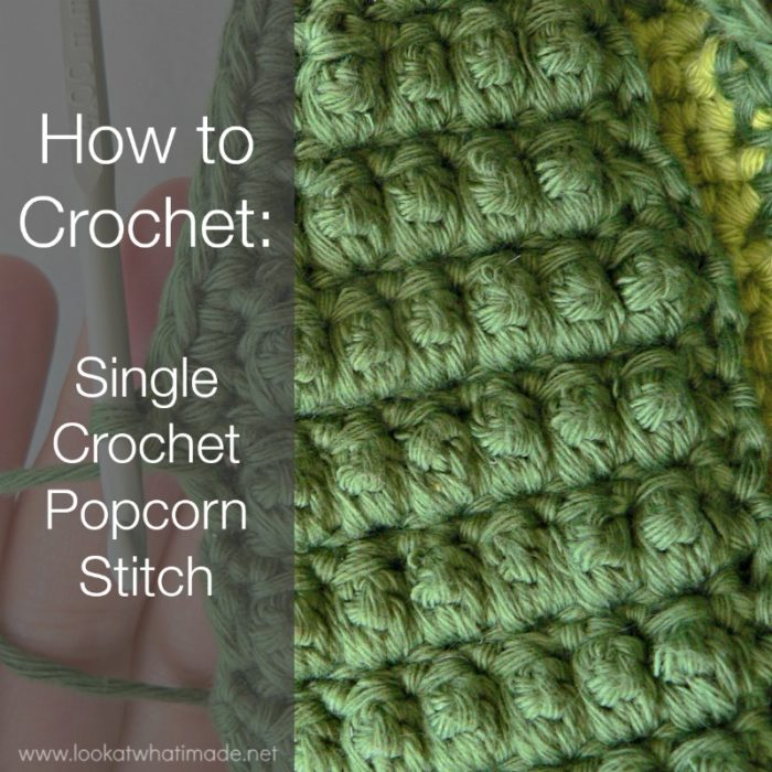 how to crochet single crochet popcorn stitch
