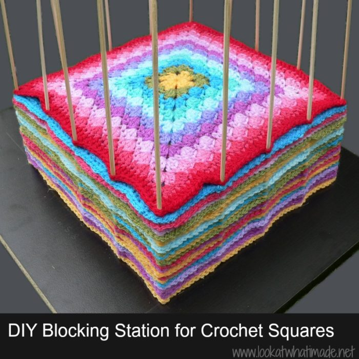 Crochet Blocking : to help me block the squares from the block a week cal 2014 i have ...