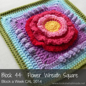 Block 44:  Flower Wreath Square { Photo Tutorial}
