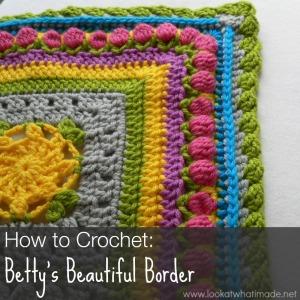 How to Crochet Betty's Beautiful Border