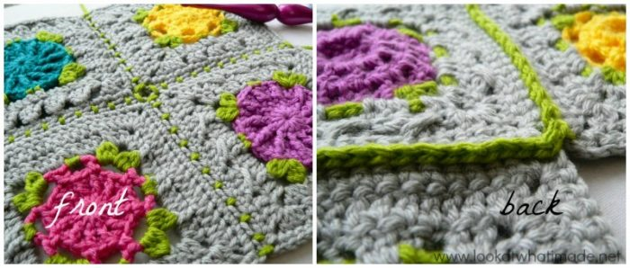 Crochet Patterns Joining Squares : Joining Crochet Squares Part 2: (Sc, ch 1, skip 1) Join - Look At ...