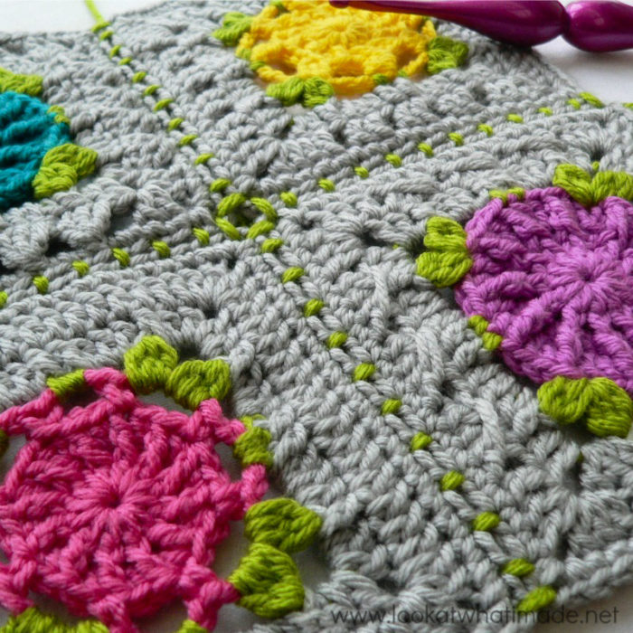 Crochet Join Stitch : of the ?Joining Crochet Squares? series is a tutorial for joining ...