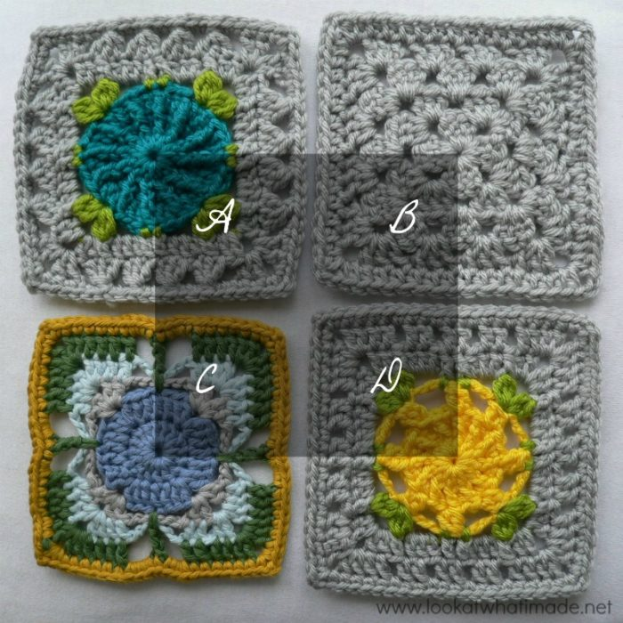 Crochet Stitches Joining Yarn : Crochet Squares Part 4: Joining Crochet Squares with Different Stitch ...