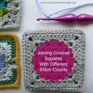Joining Crochet Squares Part 4:  Joining Crochet Squares with Different Stitch Counts