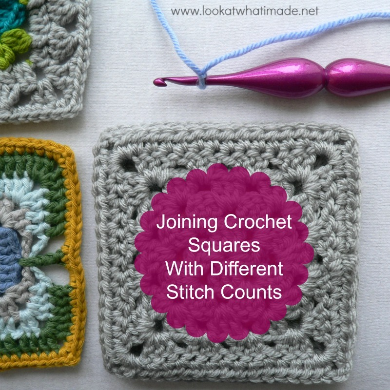 Joining Crochet Squares With Different Stitch Counts