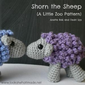 Shorn the Crochet Sheep – a Little Zoo Animal