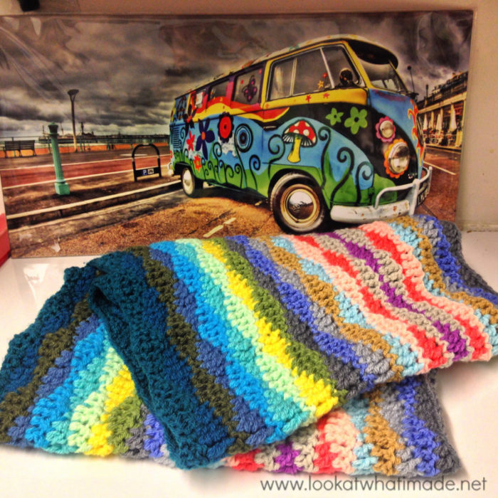 Lazy Waves Blanket Crochet
