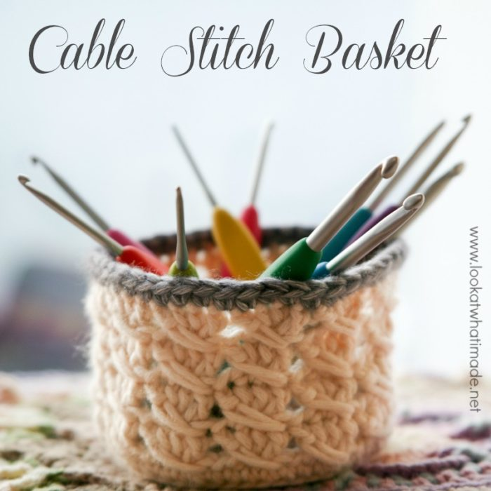 Crochet Cable Stitch Basket Pattern