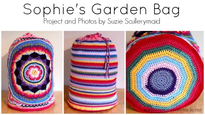 Sophie's Garden Deramores Bloggers Competition Large Crochet Square