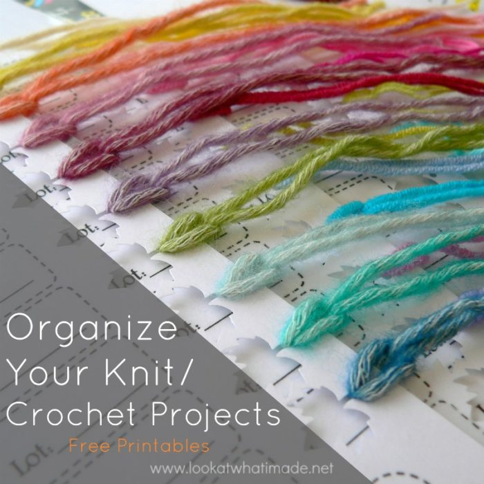 Organize your crochet projects printable