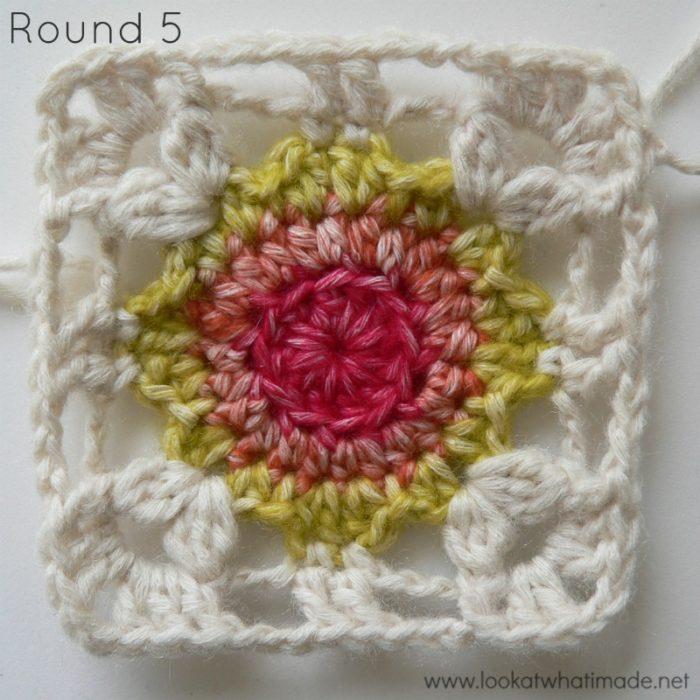 Dedri's Rose Garden Crochet Square