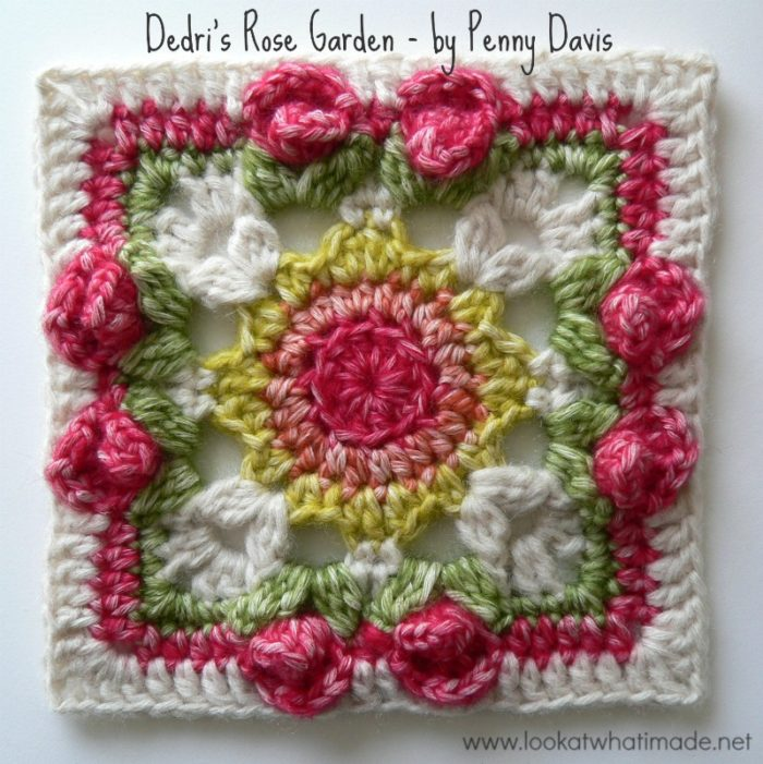 Dedris Rose Garden Square By Penny Davis Look At What I Made