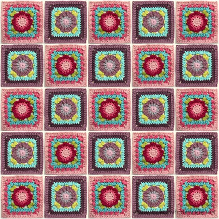 """Jack and Lydia 4"""" Crochet Square"""