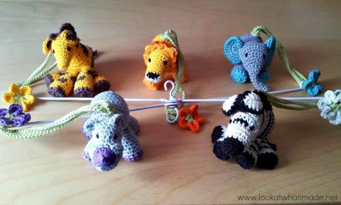 Crochet Little Zoo Mobile By Anette Bak Look At What I Made