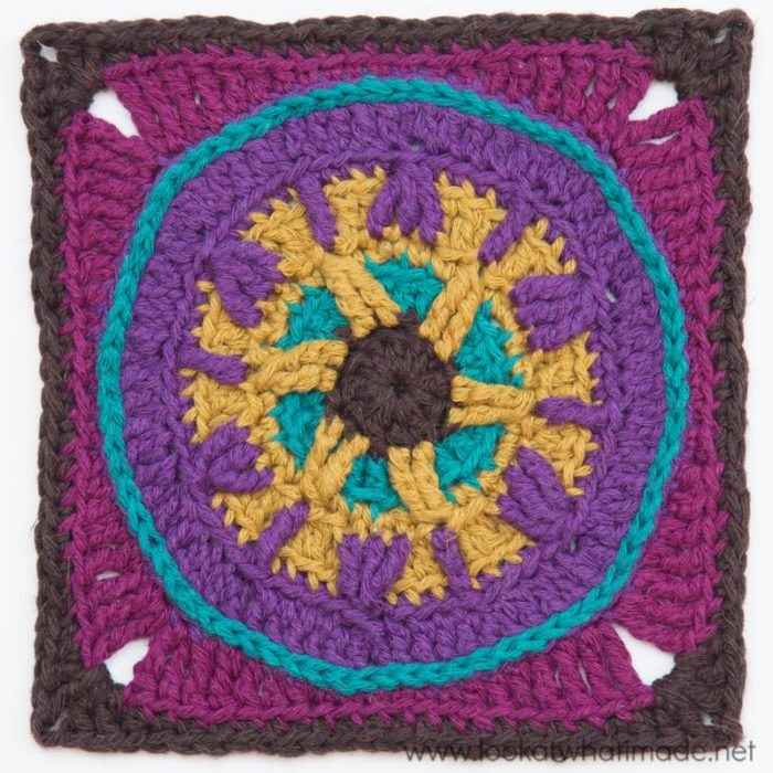 Circles of the Sun CAL Crochet Squares