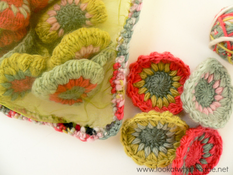 Scrap Yarn Project Crochet Organza Bag (5)