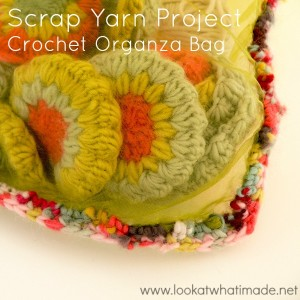 Scrap Yarn Project:  Crochet Organza Bag Using a Magic Ball