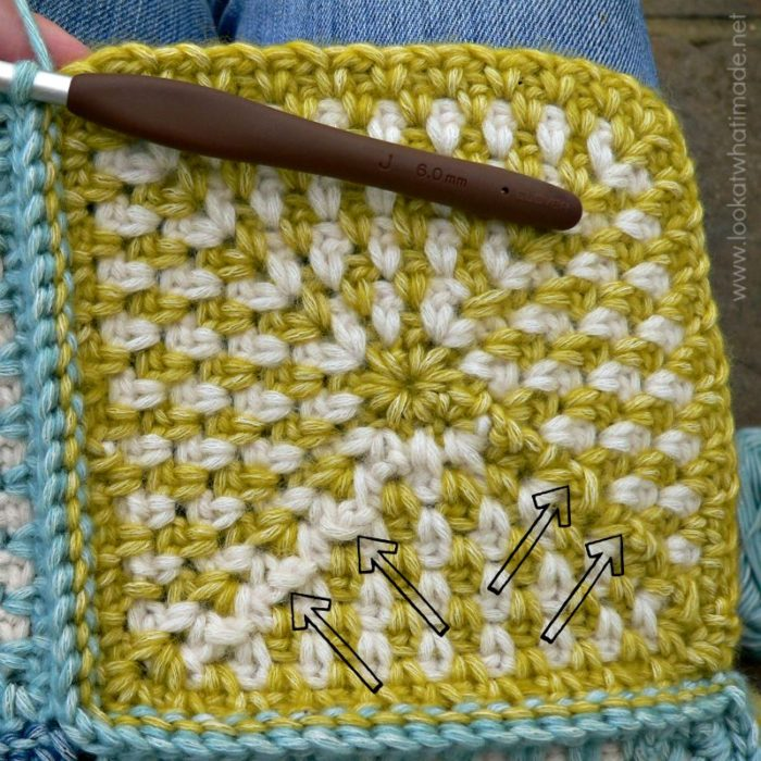 Linen Stitch Square Back
