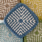 Two-Colour Linen Stitch Square