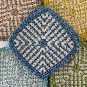 Two-Colour Linen Stitch Square