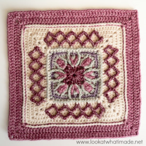 Winter Cottage Crochet Square